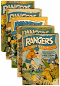 Golden Age (1938-1955):War, Rangers Comics Group (Fiction House, 1941-43).... (Total: 5 ComicBooks)