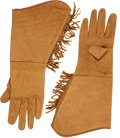 Western Expansion:Cowboy, Pawnee Bill's Wild West Show: A Pair of Vintage Fringed LeatherGloves. ... (Total: 3 Items)