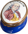Political:3D & Other Display (pre-1896), Benjamin Franklin: Battersea-Style Box....