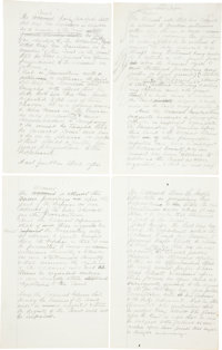 George Armstrong Custer: Rare Autograph Manuscript Signed