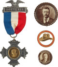 Political:Pinback Buttons (1896-present), Theodore Roosevelt: Four Neat Buttons.... (Total: 4 Items)