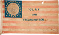 "Political:Textile Display (pre-1896), Henry Clay: A Huge 51"" Portrait Flag Banner for the 1844 WhigCandidate for President...."