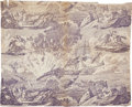 Political:Textile Display (pre-1896), Very Rare Circa 1803 Textile Depicting the Barbary Pirates and theFirst Barbary War, 1801 - 1805....