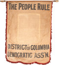 Political:Textile Display (1896-present), William Jennings Bryan: Banner from the District of Columbia....
