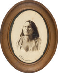 Photography:Studio Portraits, Sioux Leader Chief Gall: A Fine Nineteenth Century D. F. Barry Photograph. ...