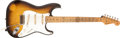 Musical Instruments:Electric Guitars, 1957 Fender Stratocaster Sunburst Electric Guitar, #17316....