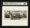 Large Size:Demand Notes, Hessler USE10f $2 1864 Legal Tender Face Essay Proof PMG GemUncirculated 66 EPQ.. ...