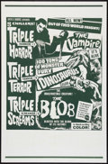 "Movie Posters:Horror, The Blob/Dinosaurus/The Vampire Combo (Jack H. Harris, R-1960s). Drive-In One Sheet (27"" X 41""). Horror.. ..."
