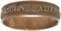 Political:Miscellaneous Political, John Quincy Adams: A Rare Brass Ring, Either from the 1824 Electionor Celebrating His Inauguration....