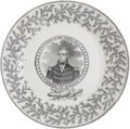 Political:3D & Other Display (pre-1896), William Henry Harrison: A Scarce and Popular 1840 Campaign Dinner Plate....