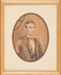 Political:Miscellaneous Political, Abraham Lincoln: Large Format 1858 Photograph of Abraham Lincoln....