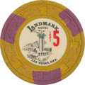 Miscellaneous:Gaming Chips, Landmark Hotel: A Tough First Series $5.00 Chip....