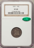 Bust Dimes: , 1821 10C Large Date XF40 NGC. CAC. NGC Census: (1/90). PCGSPopulation (16/145). Mintage: 1,186,512. Numismedia Wsl. Price ...