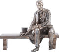 Political:3D & Other Display (1896-present), Abraham Lincoln: An Astonishing, Monumental Sculpture, Cast in .999Fine Silver....