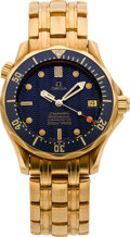 Timepieces:Wristwatch, Omega Gold Seamaster Professional Chronometer . ...