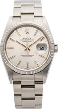 Timepieces:Wristwatch, Rolex Ref. 16200 Gent's Steel Oyster Perpetual Datejust, circa 1991. ...