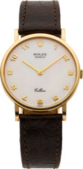 Timepieces:Wristwatch, Rolex Gent's Gold Cellini Ref. 5112 Mother-of-Pearl Dial, circa 1995. ...