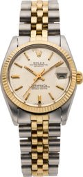 Timepieces:Wristwatch, Rolex Ref. 6800 Two Tone Mid-Size For Tiffany & Co., circa1980. ...