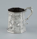 Silver Holloware, American:Cups, AN AMERICAN COIN SILVER CUP WITH HANDLE . M.W. Galt & Bro.,Washington, D.C., circa 1851. Marks: M.W. GALT & BRO. 4inch...