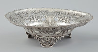 A PAIR OF AMERICAN SILVER FOOTED BOWLS WITH PIERCED RIMS Whiting Manufacturing Company, New York, New York, circ