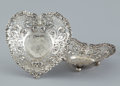 Silver & Vertu:Hollowware, A SET OF TWO AMERICAN RETICULATED HEART-SHAPE NUT DISHES . Gorham Manufacturing Co., Providence, Rhode Island, circa 1895. M... (Total: 2 Items)