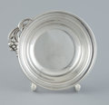 Silver Holloware, American:Bowls, AN AMERICAN SILVER BOWL WITH CAST FLORAL HANDLE . The Randahl Shop,Chicago, Illinois, circa 1920. Marks: RANDAHL, STERLIN...