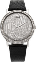 "Timepieces:Wristwatch, Piaget Gold & Diamond Altiplano Mecanique ""Fingerprint"" Wristwatch, circa 2006. ..."
