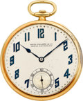 "Timepieces:Pocket (post 1900), Patek Philippe ""Extra Quality"" Gold Pocket Watch, circa 1928. ..."