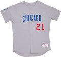 Baseball Collectibles:Uniforms, 2001 Sammy Sosa Game Worn Jersey....