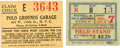 Football Collectibles:Tickets, Polo Grounds Game Ticket And Parking Stub from December 7, 1941. ...