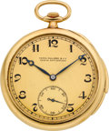 Timepieces:Pocket (post 1900), Patek Philippe Gold Minute Repeater. ...