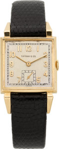 Timepieces:Wristwatch, Tiffany & Co. Vintage Gold Watch by C.H. Meylan, circa 1946. ...