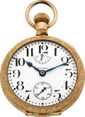 Timepieces:Pocket (post 1900), Waltham 23 Jewel Model 92 Wind Indicator, circa 1908. ...