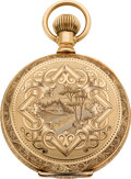Timepieces:Pocket (pre 1900) , Waltham Choice 14K Gold Model 83 With Gold Flashed Movement, circa 1890. ...