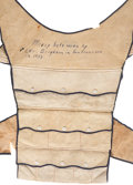 Western Expansion:Goldrush, Lambskin Money Vest Worn by Gold Rush Pioneer Levi Brigham in SanFrancisco, 1853. ...