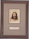 "Autographs:Celebrities, James Butler ""Wild Bill"" Hickok: One of the Rarest of Old West Autographs...."