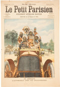 Advertising:Gas & Oil, Native Americans in a 1905 Automobile. ...