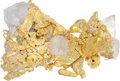 Western Expansion:Goldrush, Crystalline Gold: An Exceptionally Fine and Attractive Specimenwith Quartz Crystals Embedded as Found. ...