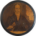 Political:3D & Other Display (pre-1896), Henry Clay: A Fine Papier-Mâché Portrait Snuffbox....