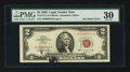 Error Notes:Ink Smears, Fr. 1513 $2 1963 Legal Tender Note. PMG Very Fine 30.. ...