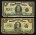 Canadian Currency: , King George V $1's.. ... (Total: 2 notes)