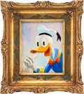 Original Comic Art:Paintings, Carl Barks Donald Duck Painting Original Art (c. 1984)....