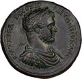 Ancients:Roman Provincial , Ancients: Roman Provincial. Caracalla (AD 198-211). AE 41 mmmedallion (36.48 gm) of Thrace, Perinthus. ...