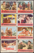 "Movie Posters:War, The Bridge On The River Kwai (Columbia, R-1963). Lobby Card Set of8 (11"" X 14""). War.. ... (Total: 8 Items)"
