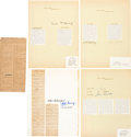 Baseball Collectibles:Others, Baseball Hall of Famers Multi Signed Sheets Collection....