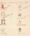 Baseball Collectibles:Others, 1950 American League Presidents Multi Signed Sheet....