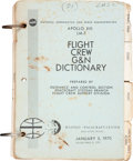 Explorers:Space Exploration, Apollo 13 Training-Used Apollo XIII LM-7 Flight Crew G&NDictionary Book. ...