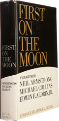 Books:Signed Editions, Apollo 11 Crew-Signed Book: First on the Moon. ...