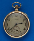 Timepieces:Pocket (post 1900), Hamilton Gold Filled 17 Jewel, 910. ...