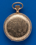 Timepieces:Pocket (post 1900), Seth Thomas 6 Size, Gold Filled Hunters Case. ...
